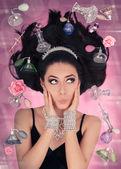 Perfume Fantasy in Zero Gravity — Foto de Stock