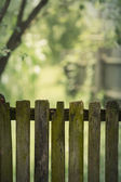 Old Rustic Wooden Fence — Stock Photo