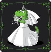 Bridezilla Vector Cartoon — Stock Vector