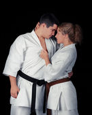Karate Couple Passion — Foto Stock
