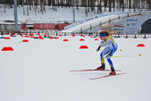 Swedish sportcman - Ski orienteering world cup 2014 — Stock Photo