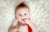Little baby girl with Downs Syndrome — Stock Photo