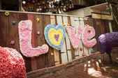 Láska text — Stock fotografie