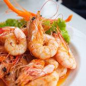 Cozer camarão — Foto Stock
