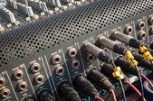 Аудио разъемы — Стоковое фото