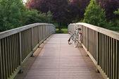 Bicycle on a bridge — Stock Photo