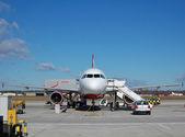 Passenger aircraft — Stock Photo