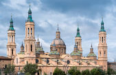 Pilar Cathedralin Zaragoza city Spain — Stock Photo