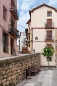 Cidade velha em espanha morella — Foto Stock