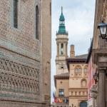 Pilar Cathedral in Zaragoza city Spain — Stock Photo