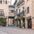 Street in the castle in Alquezar Spain — Stock Photo