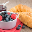 Mixed berry jam with bilberries, raspberries and blackberries — Stock Photo #29904801