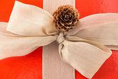 Closeup of Christmas gift box — Stock Photo