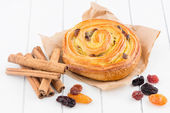 Pastry swirl with cinnamon — Stock Photo