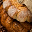 Fresh tasty bread (kalatches) close up — Stock Photo