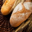 Stock Photo: Fresh tasty homemade bread close up