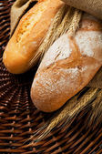 Fresh tasty homemade bread close up — Stock Photo