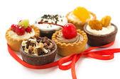 Colorful mini-cupcakes — Stock Photo