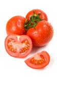 西红柿与水滴 — 图库照片