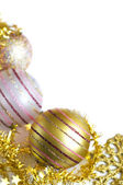 Tarjeta de navidad, oro tema — Foto de Stock