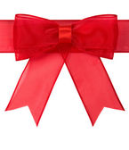 Red holiday bow isolated — Stock Photo