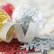 Bright xmas baubles — Stock Photo