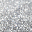 Unfocused abstract silver glitter holiday background — Stock Photo