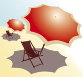 Alone under the sun — Stock Vector