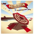 Summer is waiting — Stock Vector