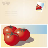 Pomodori in spiaggia — Vettoriale Stock