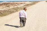 Lonesome walking — Stock Photo
