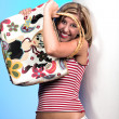 Blond with bag 2 — Stock Photo