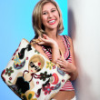 Blond with bag 4 — Stock Photo