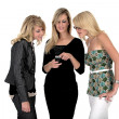 Three business woman on phone — Stock Photo