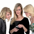 Three business woman on phone 2 — Stock Photo