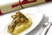 Fish & Mash — Stock Photo