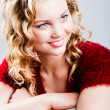 Pretty in curls — Stock Photo