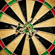 Dart bulls eye — Stock Photo