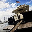 Stern of yacht — Stock Photo