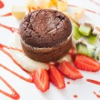 Stock Photo: Chocolate souffle