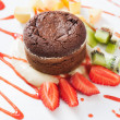 图库照片: Chocolate souffle