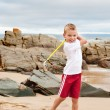 Boy golf — Stock Photo