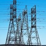 elektryczne wieże — Zdjęcie stockowe