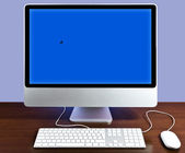 IMac blue — Stock Photo