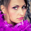 Stock Photo: Purple feathers