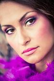 Hazel eyed model — Stock Photo
