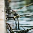 Chained and docked — Stock Photo