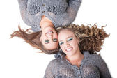 Hair and smiles — Stock Photo