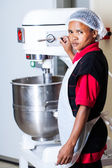 Hard work with the mixer — Stock Photo