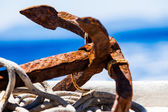 Rustic anchor — Stock Photo